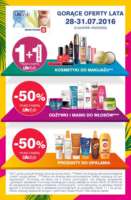 1+1 za GROSZ (make up) oraz -50% na wybrane grupy produktów @ Super-Pharm