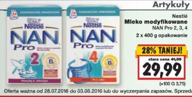 Mleko Nestle NAN Pro 800g za 29,99zł @ Kaufland