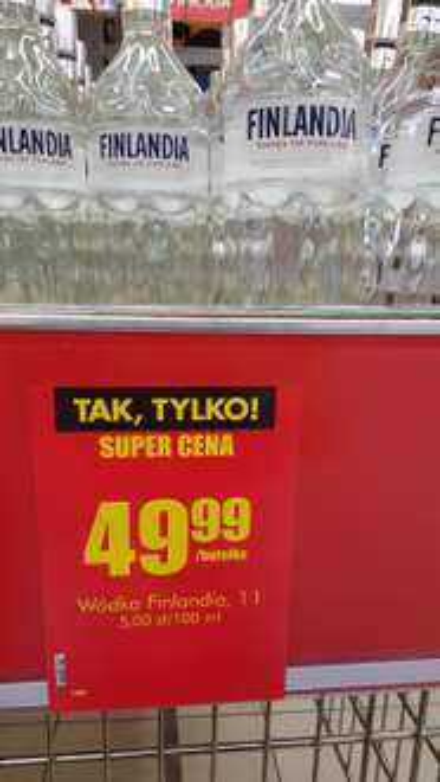 Finlandia 1l za 49,99 w Biedronce