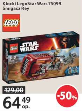 Lego Star Wars: Śmigacz Rey za 64,49zł @ Tesco