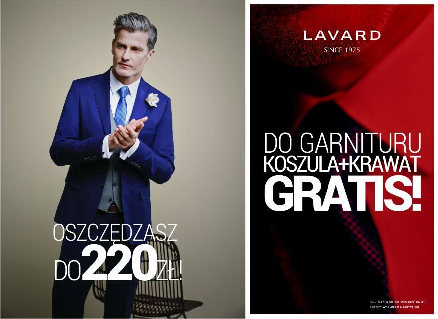 Do garnituru koszula+krawat GRATIS @ Lavard