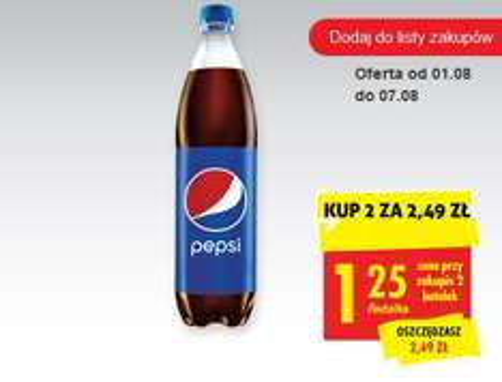 2 x Pepsi 0,85l za 2,49 zł @Biedronka