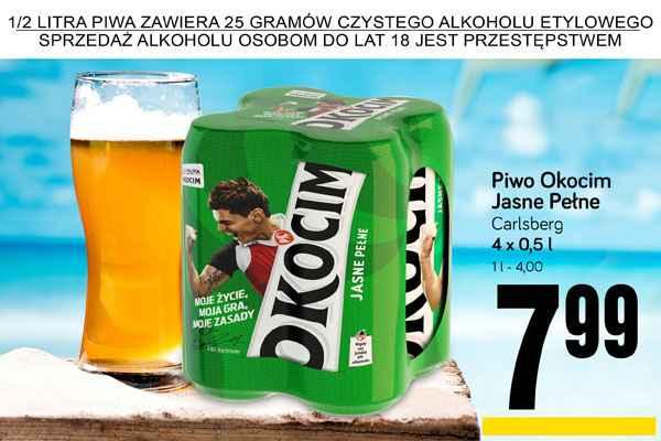 4pak piwa Okocim Jasne Pelne za 7,99 zł @ POLOmarket