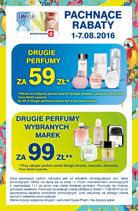 Drugie perfumy za 59zł lub 99zł @ Super-Pharm