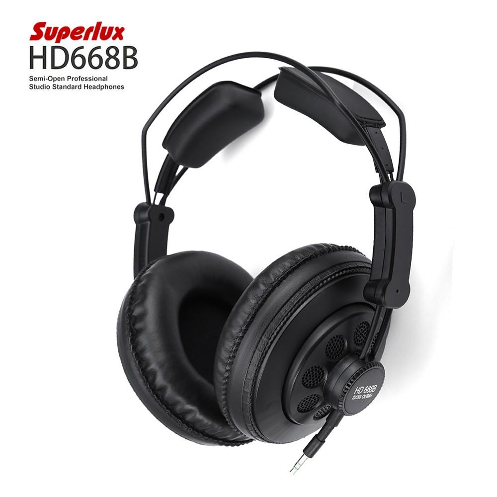 Półotwarte słuchawki Superlux HD668B - 26$, @Gearbest