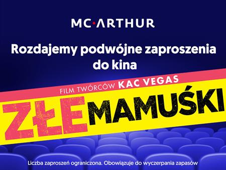 Dwa bilety do kina GRATIS przy zakupach od 200zł @ McArthur