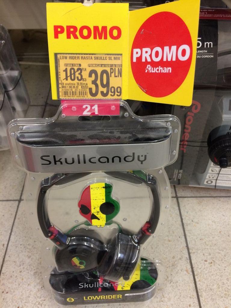 Słuchawki skullcandy low rider rasta @ Auchan
