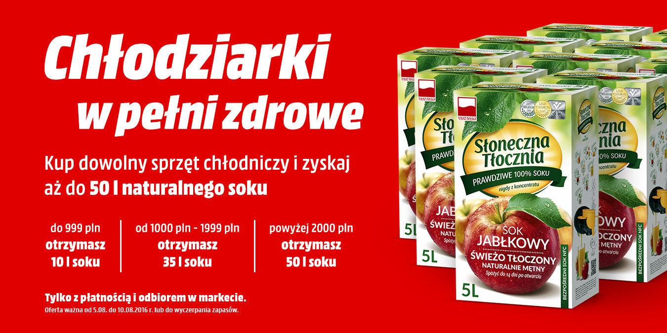 Do 50l soku za zakup sprzętu chłodniczego @ Media Markt