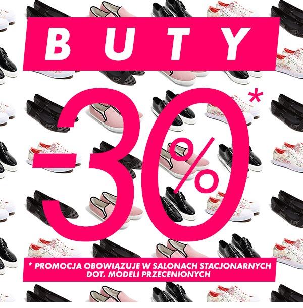 Sinsay, dodatkowe -30% na przecenione buty w sklepach stacjonarnych