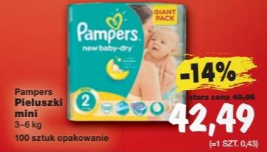 """Pieluszki Pampers Giant Pack (""""2"""") za 42,49zł @ Kaufland"""