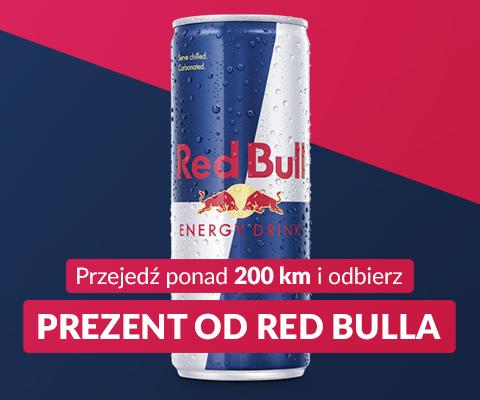 Puszka Red Bull'a za darmo! (za przejechanie samochodem 200km) @ Yanosik