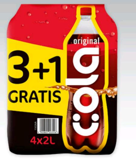 #Biedronka: Cola Original, 4x2l za 6,99zł