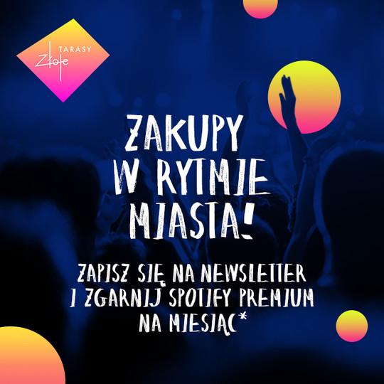 Spotify Premium na 1 miesiąc za darmo (za zapisanie się do newslettera Złote Tarasy)