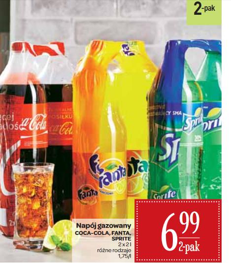 Coca-Cola, Fanta lub Sprite 2 x 2L za 6,99zł @ Carrefour