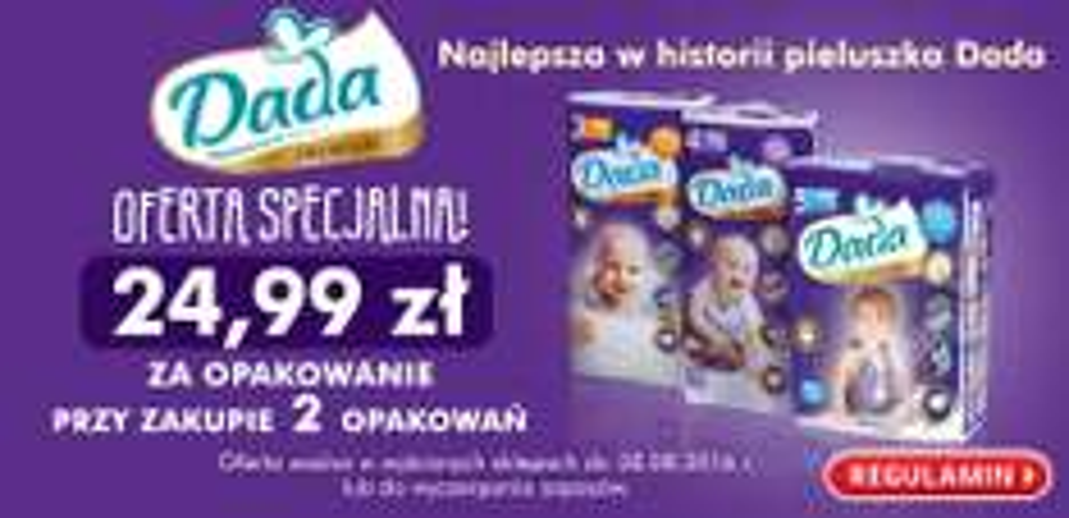 Pieluszki Dada Premium - 2 opakowania za 49,98zł @ Biedronka