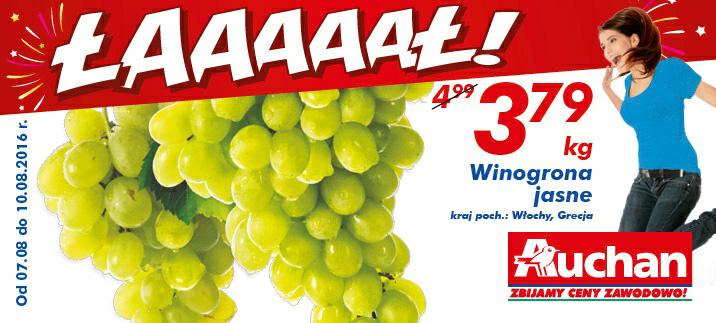 Winogrona jasne @Auchan
