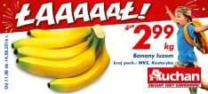 Banany luzem kg @Auchan
