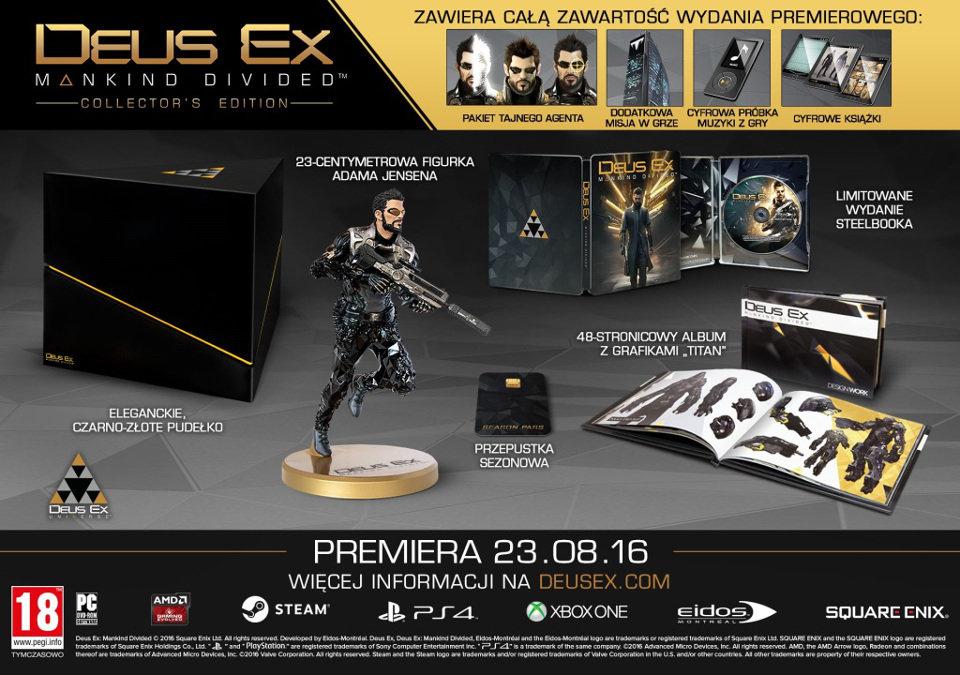 Deus Ex: Rozłam Ludzkości - Edycja Kolekcjonerska PC 159/PS4 259zł