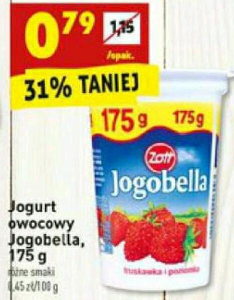Jogobella 175g za 0,79 BIEDRONKA