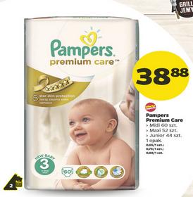 Pieluszki Pampers Premium Care za 38,88zł @ Netto