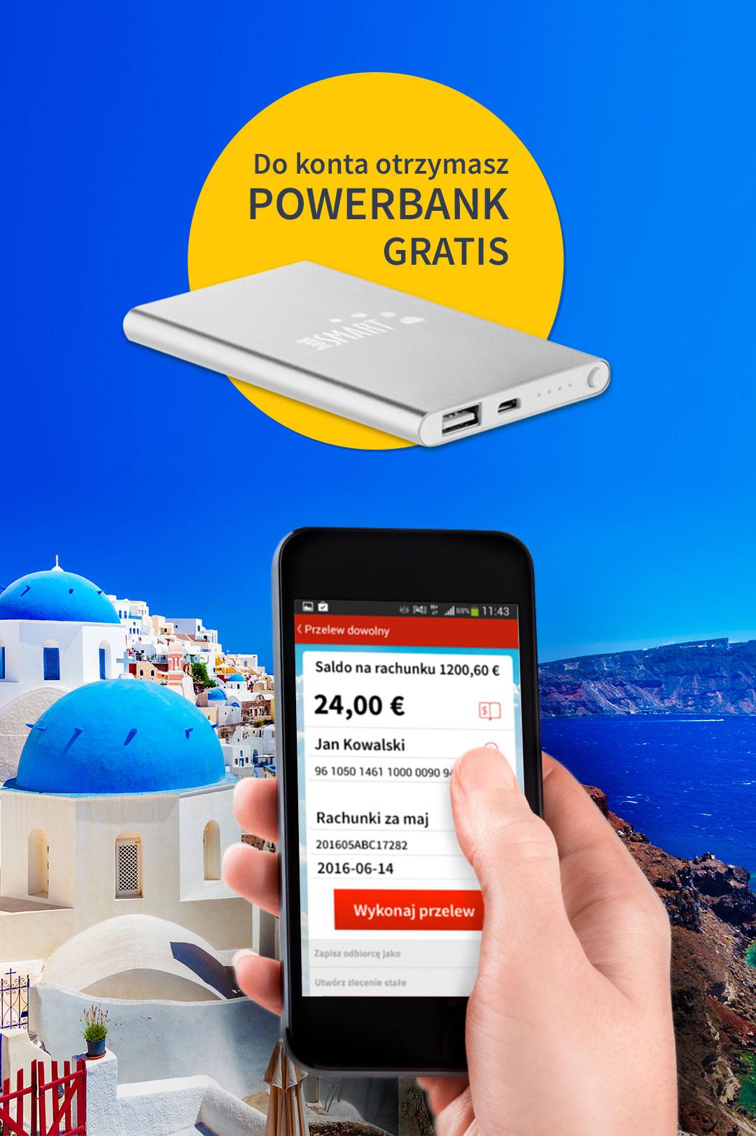 PowerBank za założenie darmowego SMART konta i Smart Konta EU @ Bank SMART