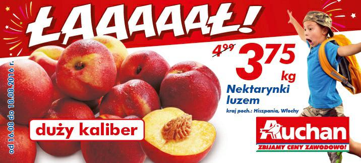 Nektarynki luzem kg @Auchan