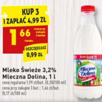 #Biedronka: Mleko 3,2% za jedyne 1,66zł przy zakupie 3 sztuk