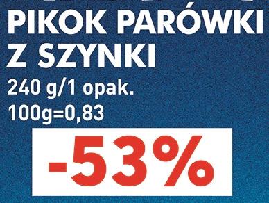 Parówki z szynki Pikok 240g za 1,99PLN (-53%) @ Lidl