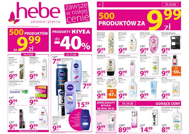 Produkty za 9,99zł (maszynki, odżywki, szampony, podkłady, lakiery etc.) @ Hebe