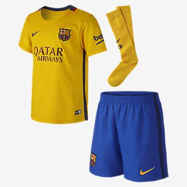 Strój piłkarski dla dzieci Barcelona Stadium Away (spodenki, koszulka i skarpety) taniej o 124zł @ Nike