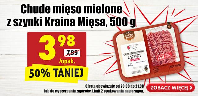 Chude mięso mielone z szynki Kraina Mięsa 500g/1 opak @Biedronka