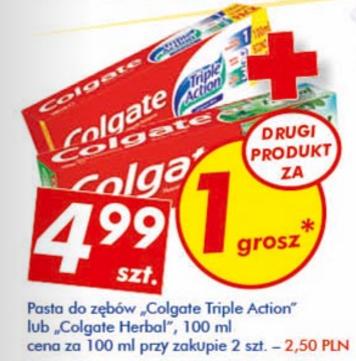 #Auchan: Pasta Colgate za 2,50zł przy zakupie 2 sztuk