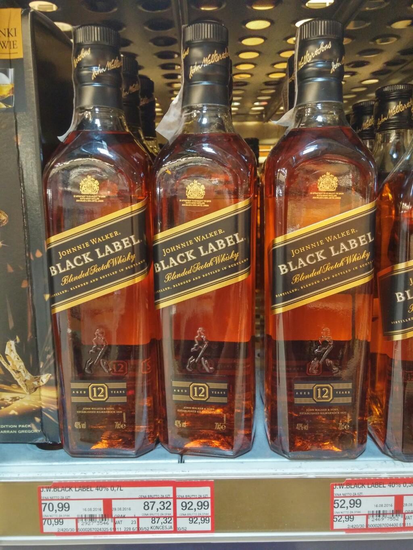 Johnnie Walker Black Label 0,7l - 92,99 zł