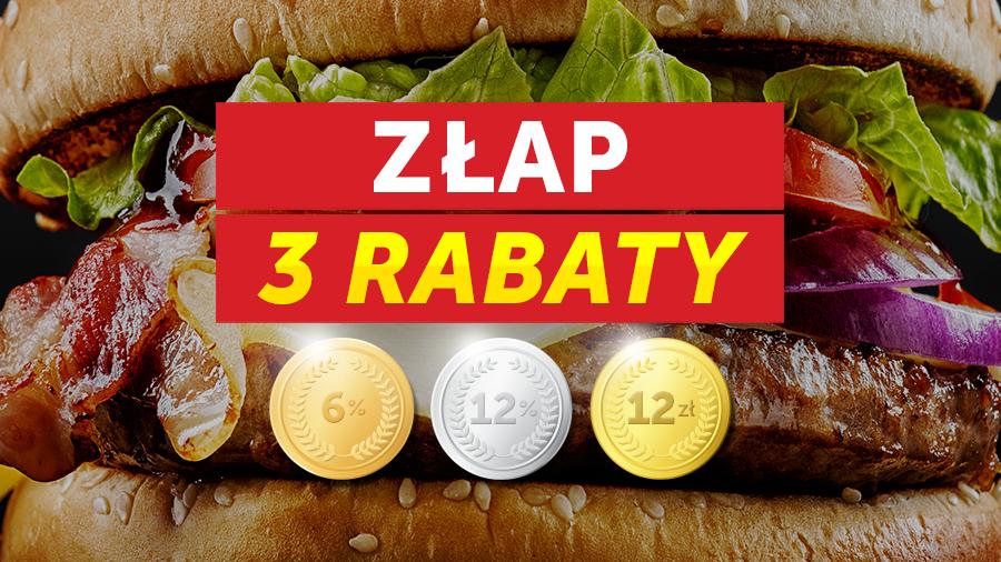 Trzy rabaty: 6%, następnie 12% i na koniec -12zł @ pizzaportal.pl