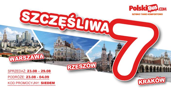 Polski Bus, Rzeszów-Warszawa i Rzeszów-Kraków w obie strony za jedyne… 7 zł + 1 zł opłaty rezerwacyjnej!