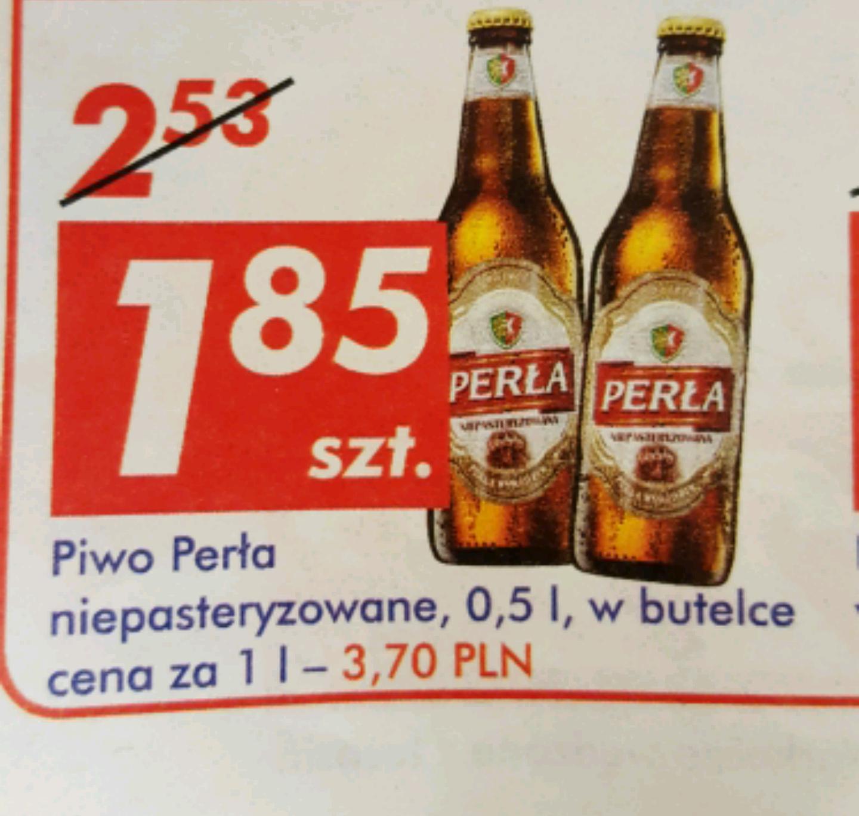 Piwo Perła niepasteryzowana 0.5 L za 1.85 w Auchan