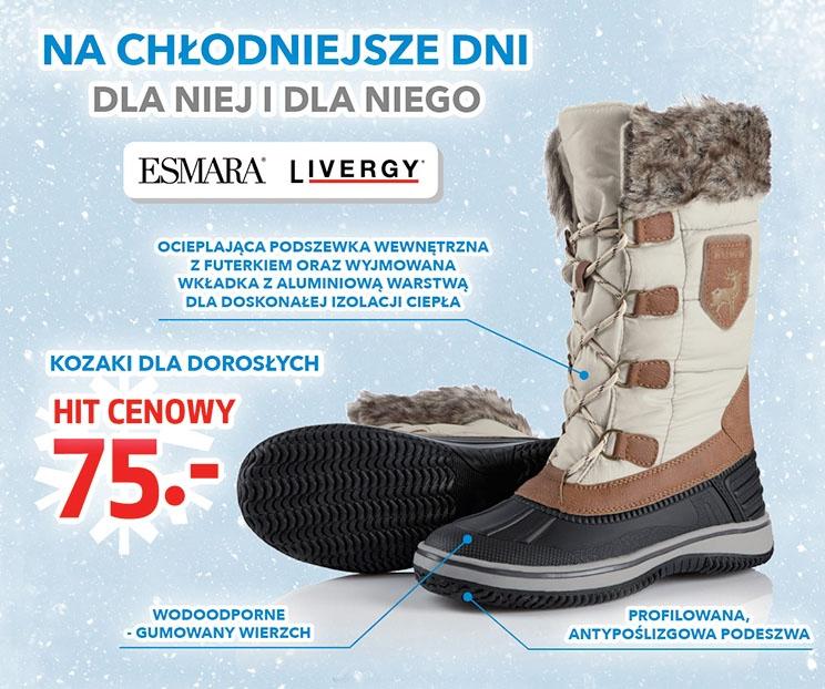 Buty na chłodniejsze dni za 75 zł (damskie i męskie) @ Lidl