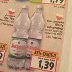 Woda MUSZYNIANKA 1,5L za 1.39zł @Kaufland