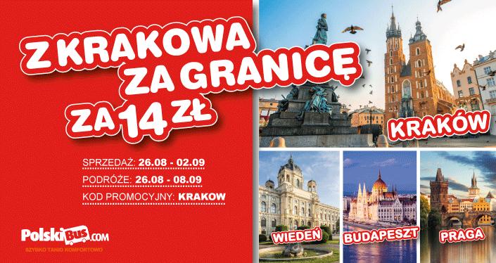 Polski Bus, Podróże z Krakowa do Pragi, Budapesztu i Wiednia za 14 zł