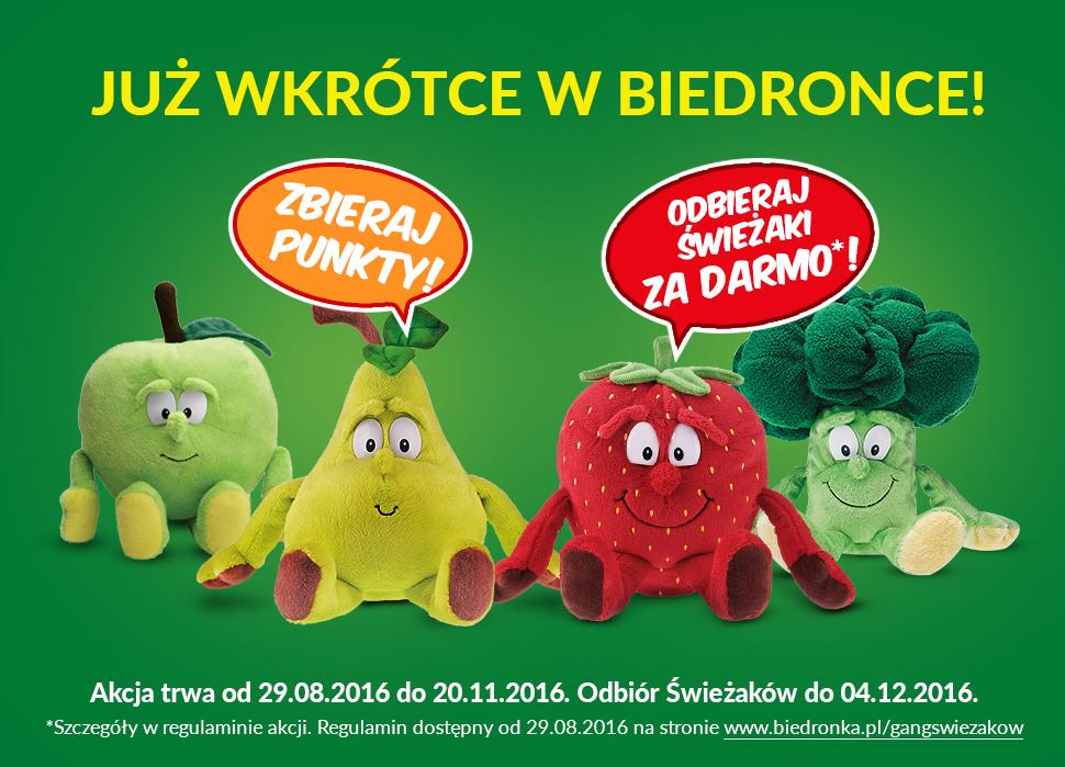"""Pluszaki """"Gang Świeżaków"""" za zakupy @ Biedronka"""