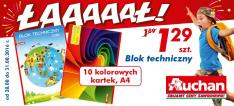Blok techniczny A4 10 kolorowych kartek @Auchan
