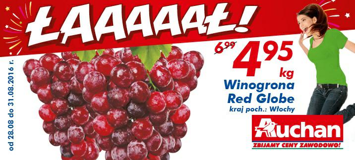 Winogrona Red Globe kg @Auchan