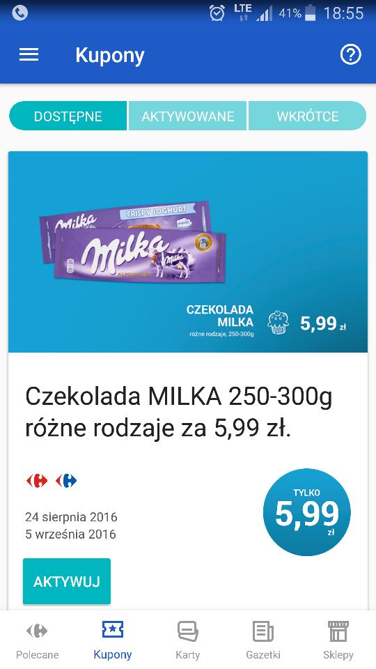 Milka 300g za 5.99zl