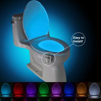 Podświetlenie toalety z sensorem ruchu, zawieszka lampka LED