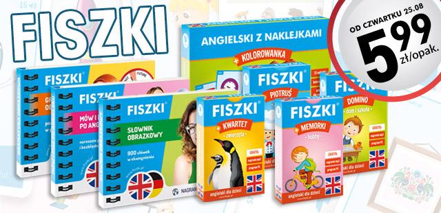 Fiszki językowe dla dzieci i dorosłych za 5,99zł @ Biedronce