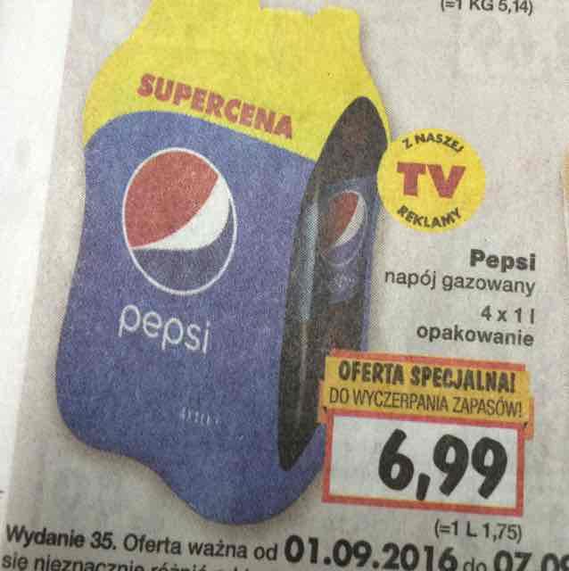 Pepsi 4x1L / 1,75zl za litr @Kaufland