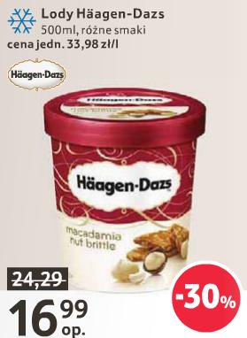 Lody HAAGEN-DAZS 500 ml za 16.99 TESCO