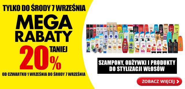 Mega rabaty 20% taniej szampony odżywki i produkty do stylizacji włosów @Biedronka