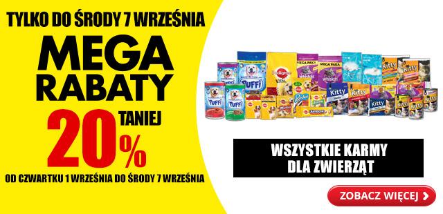 Mega rabaty 20% taniej wszystkie karmy dla zwierząt @Biedronka