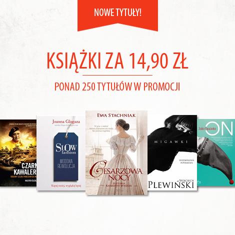 Książki za 14,90zł + darmowa dostawa @ Znak